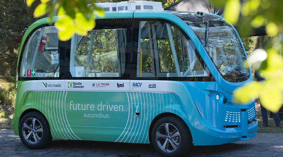 All aboard Victoria's first driverless shuttle bus