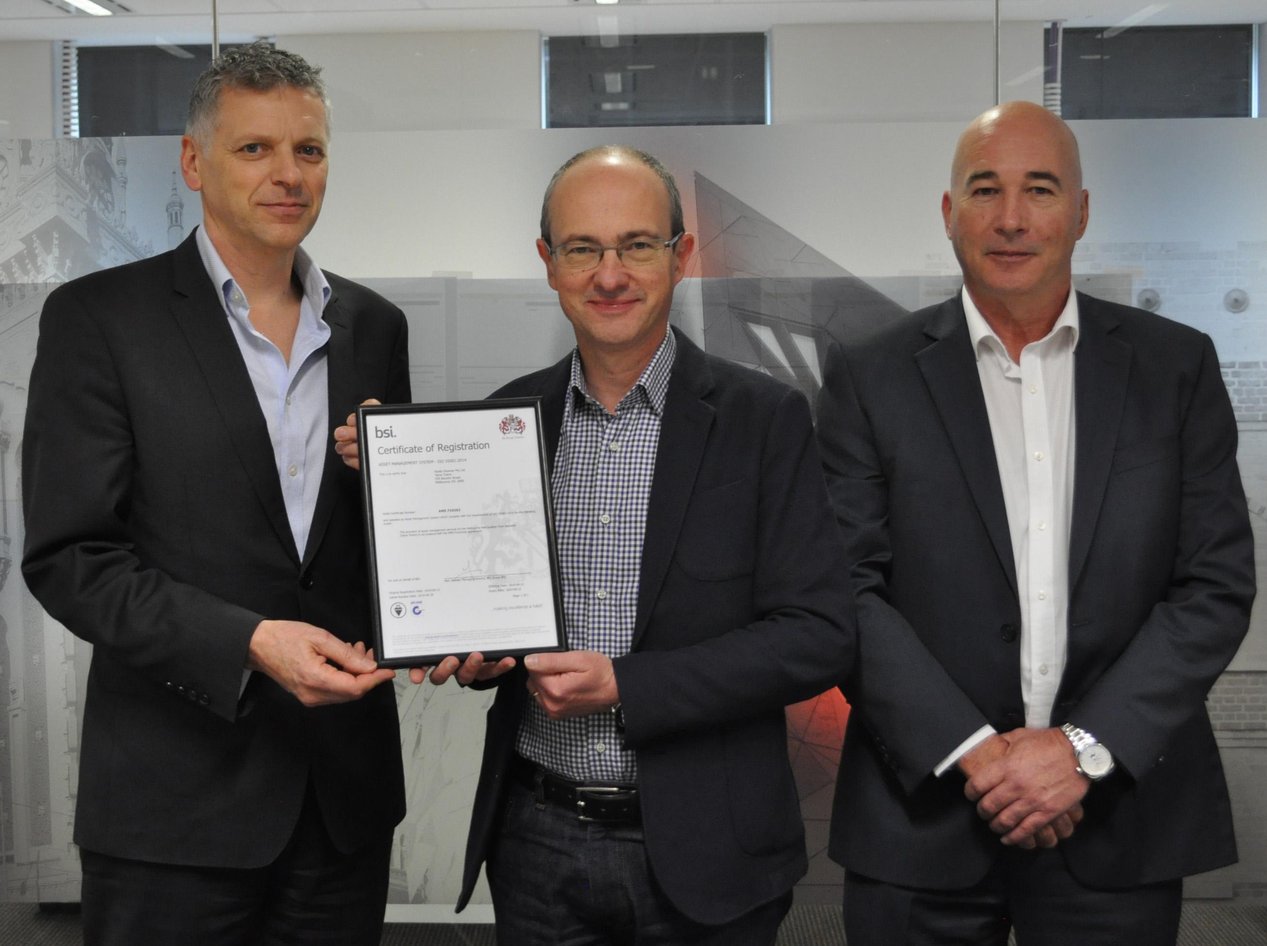 Yarra Trams achieves landmark accreditation in Asset Management