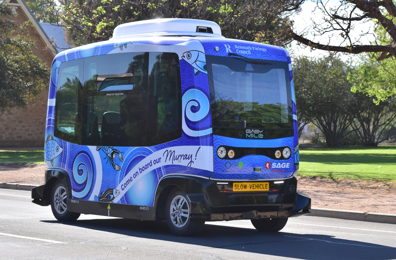 Keolis Downer is proud to operate Renmark's driverless bus 'Murray' launching on a brand new track